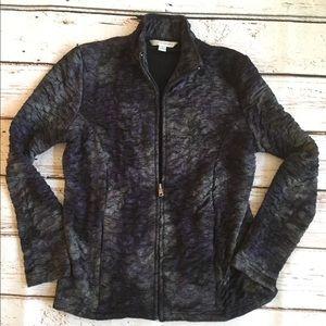 Erin London Purple Ruched Jacket Size 8 Women wtw